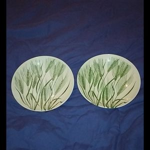 Homer Laughlin Americana Wheat Salad Plates